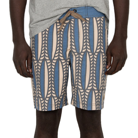 Mfazazana Boardshort - Blue/White