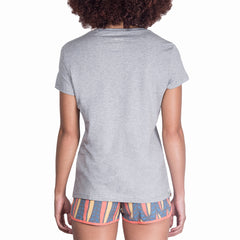 LADIES GREY SURF ARRICA TEE - BLUE/PINK