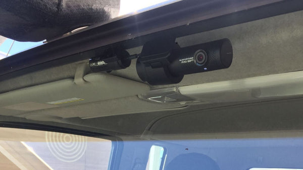 BlackVue DR750X-2CH IR installed into truck (outside view)