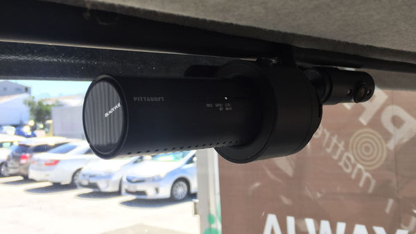 BlackVue DR750X-2CH IR installed into truck (inside view)