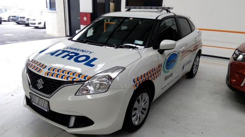 Dash Cam Installed into Community Patrol New Zealand 2016 Suzuki Boleno by DriverCam