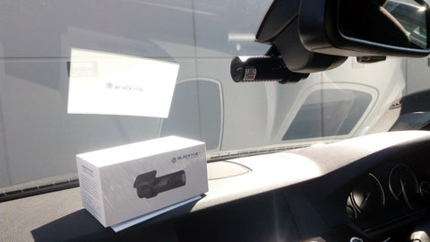 Discreet Look of BlackVue DR650S-1CH Dash Cam Installed into 2012 BMW 530D