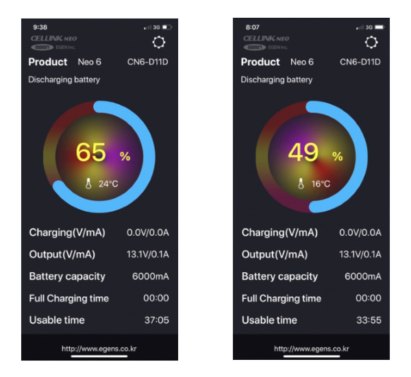 Cellink Battery Neo Smartphone App Interface