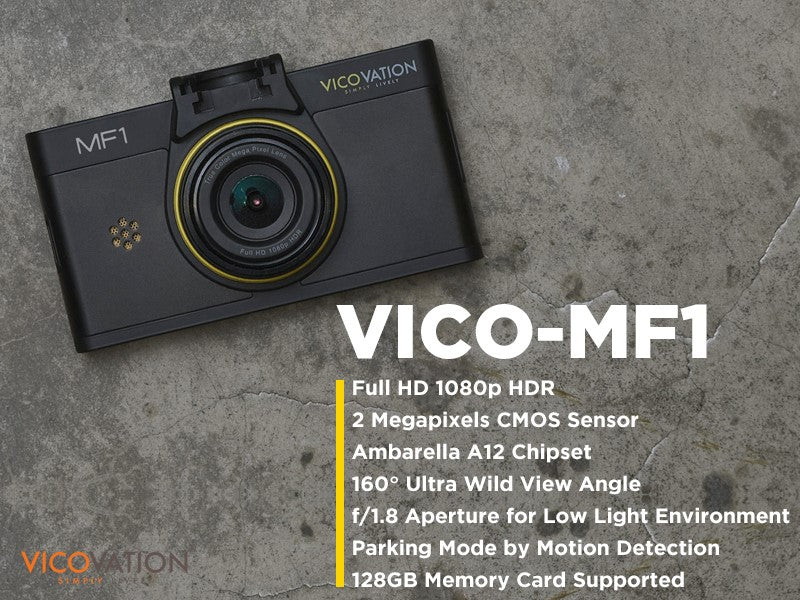 New Model! VicoVation Vico-MF1 Full 1080p Dash Camera With The A12 Chipset