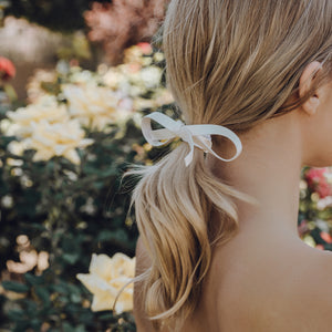 Leather Ribbon Hair Tie Accessory (Bow or Wrap)