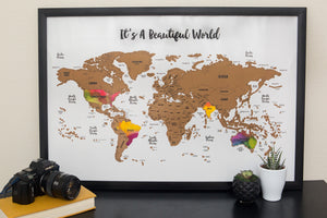 Scratch Your Travels® It's A Beautiful World Map