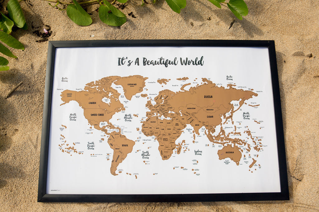 Scratch your travels its a beautiful world map suade llc map scratch your travels its a beautiful world gumiabroncs Gallery