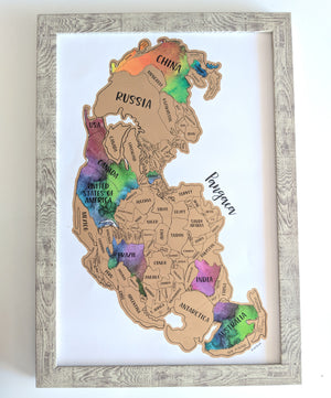 Scratch Your Travels® Pangaea One World Map