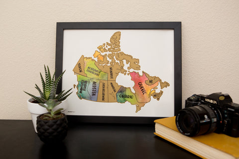 JetsetterMaps Scratch Your Travels Canada Map (11x14 in) Poster