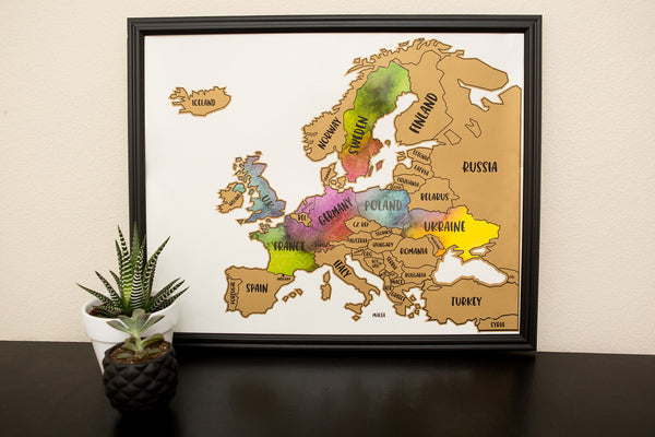 Scratch Your Travels® Europe Region  Map