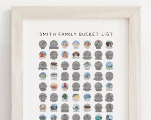 "Personalized 16x20"" National Park Bucket List"
