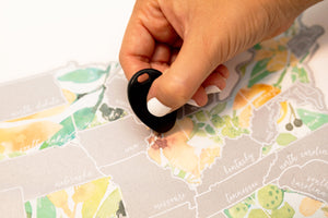 Scratch Your Travels Peachy Botanicals USA Map