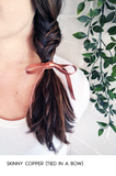 Leather Ribbon Hair Ties