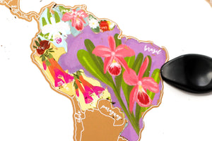 National Flowers World Scratch Your Travel Map