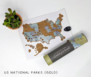 US National Parks Scratch Your Travels Map