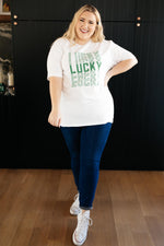 Lucky On Repeat Graphic Tee