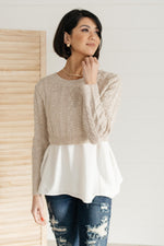 The Janessa Cropped Sweater Top