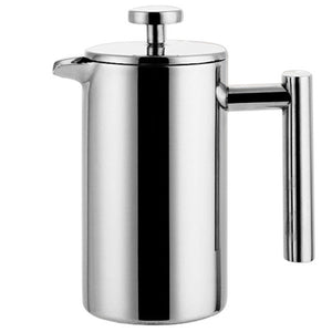 Stainless Steel French Press Coffee/Tea Pot with Filter Double Wall - Hi+Chi