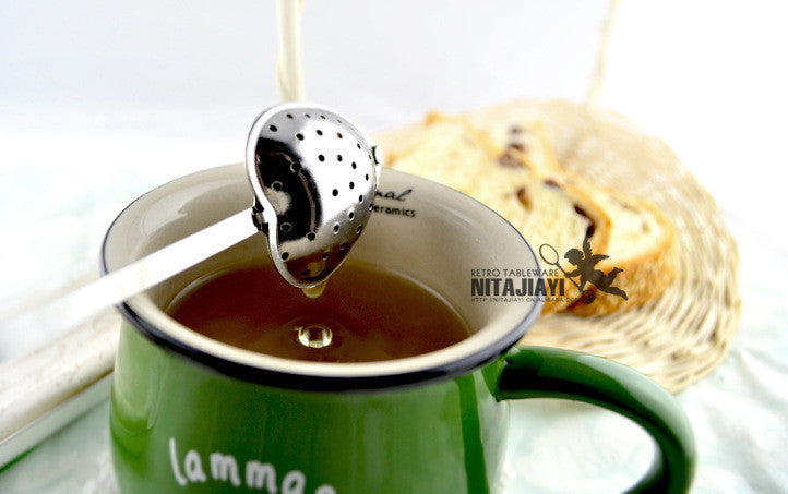 Heart shaped stainless steel tea strainer - Hi+Chi