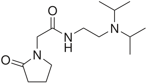 Image showing the molecular structure of Pramiracetam by Star Nootropics