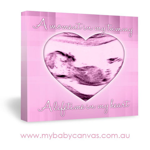 Custom Baby Canvas A Moment in my Tummy