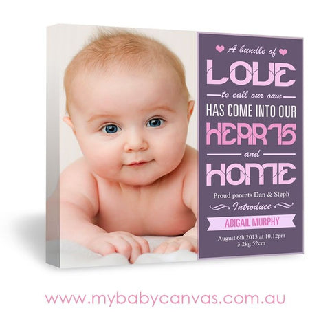 Custom Baby Canvas Bundle of Love