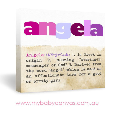 Custom Baby Canvas An Angelic Name