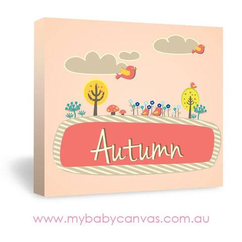 Custom Baby Canvas Celebrate Your Autumn Baby