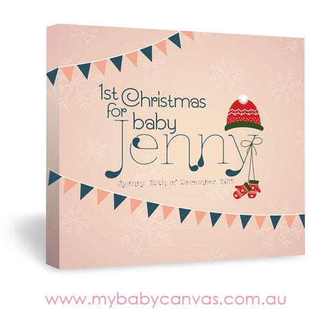 Custom Baby Canvas Merry Little Christmas