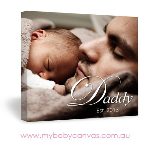 Custom Baby Canvas Becoming a Father