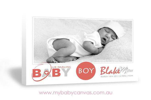 Custom Baby Canvas Our Darling Baby