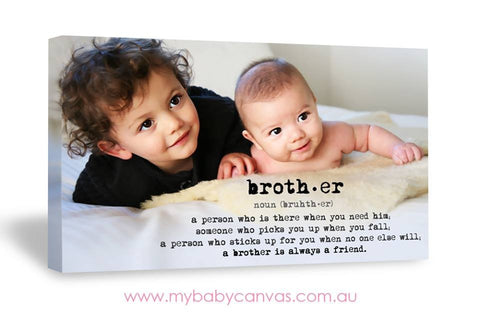 Custom Baby Canvas Brotherly Love