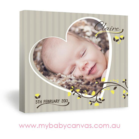 Custom Baby Canvas Our Little Sweetheart
