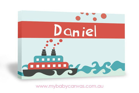 Custom Baby Canvas Ahoy baby mate!