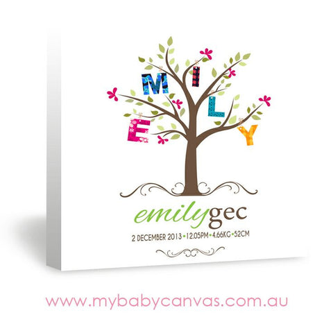 Custom Baby Canvas The Branch of Life