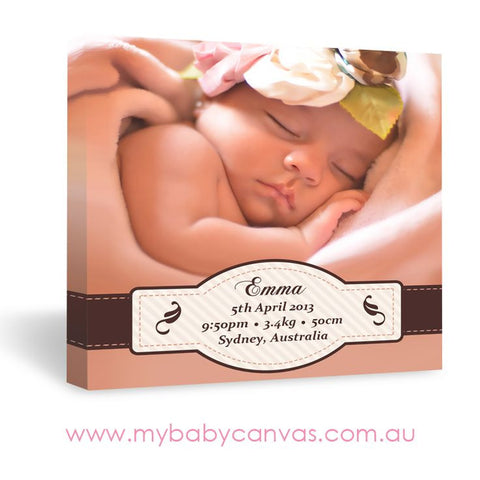 Custom Baby Canvas Embracing your New Baby with Love