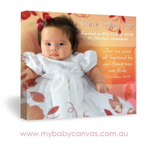 Custom Baby Canvas Baptised by One Spirit