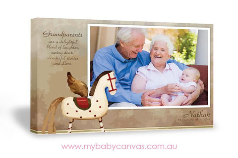 Custom Baby Canvas Grandparents are simply smitten!