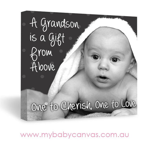 Custom Baby Canvas The Grandson