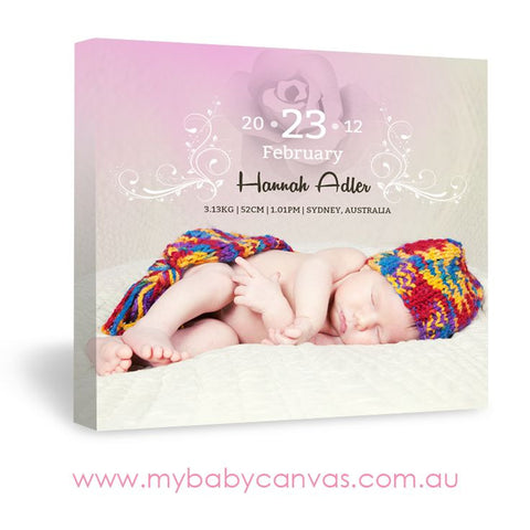 Custom Baby Canvas A Beautiful Rose