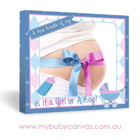 Custom Baby Canvas Is it a boy or girl?