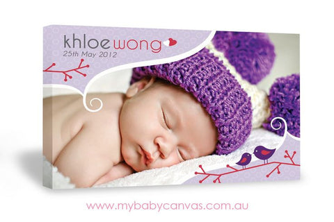 Custom Baby Canvas Your Purple Treat