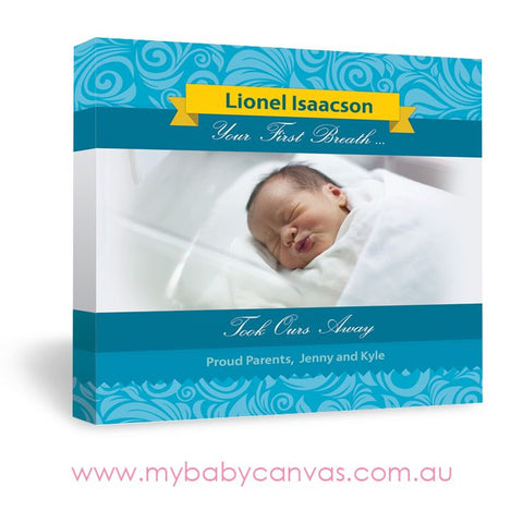 Custom Baby Canvas Take My Breath Away