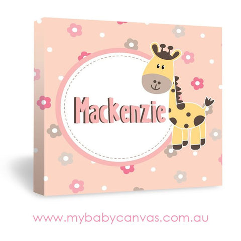 Custom Baby Canvas A little safari princess!