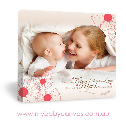 Custom Baby Canvas A Bond that lasts Forever
