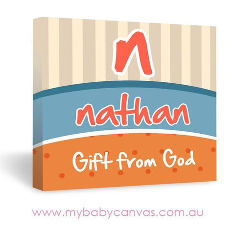Custom Baby Canvas The Gift of a Name