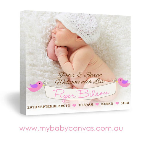 Custom Baby Canvas Proud Parent's Joy
