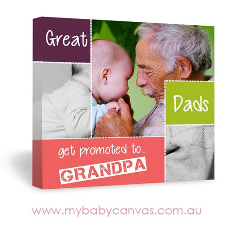Custom Baby Canvas Promoted to Grandpa