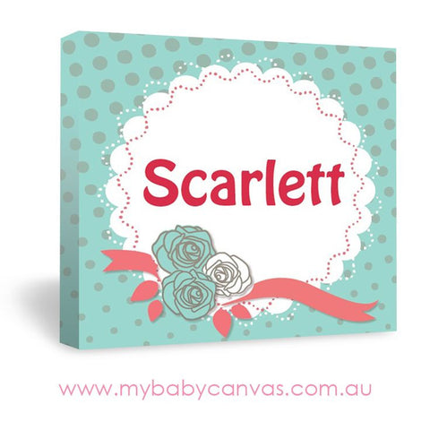 Custom Baby Canvas Present her with roses and bows!