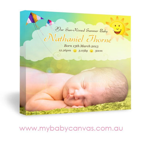 Custom Baby Canvas Sun-Kissed Summer Baby